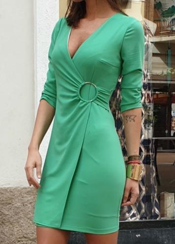 Vestido Anilla Aguaverde
