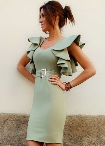 vestido hebilla
