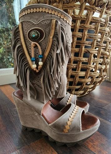 bota sandalia idaho piedra
