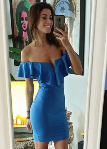 vestido queeny azul