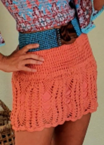 falda crochet papaya