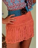 falda crochet papaya