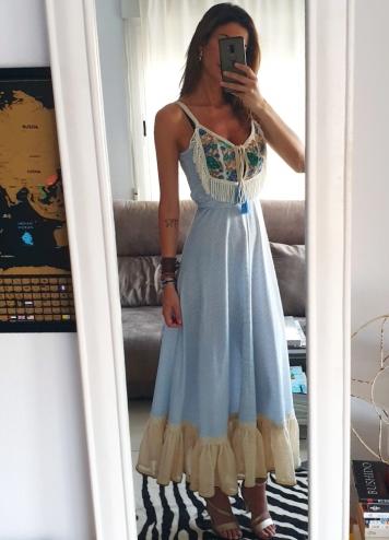 vestido Cady