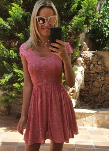 vestido pinto