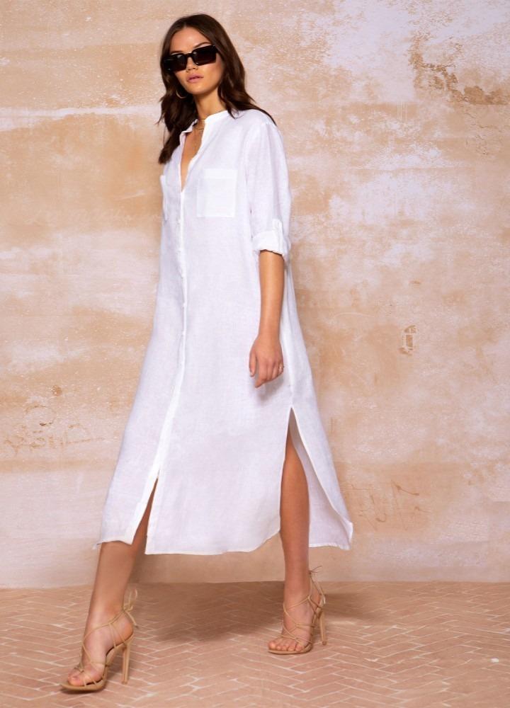 linen sailing dress