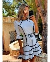 vestido columba Caótica