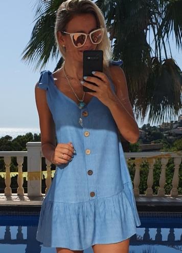 Vestido caprichen azul