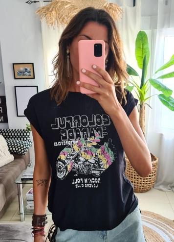 Camiseta Visoma negra