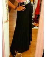 pantalón plisado negro