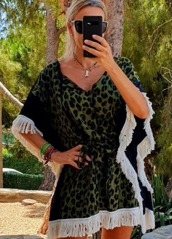 vestido mama verde