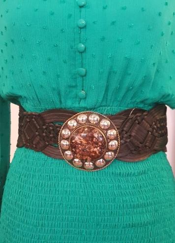 cinturón chapa tachuelas negro