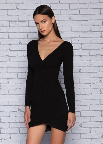 WRAP OVER BODYCON DRESS