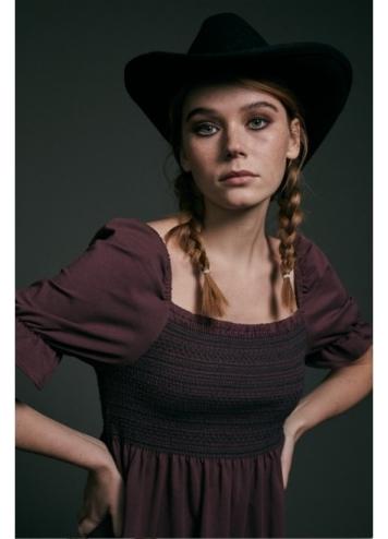 Vestido Fiorella Burdeos