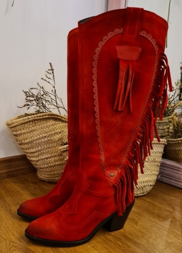 Bota Nevada Rojo