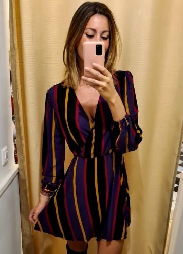 Vestido rayas colores