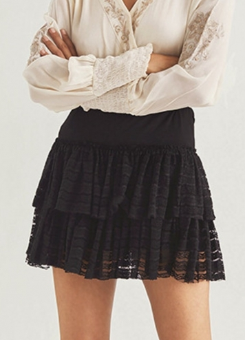 Falda barleta negra