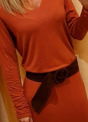Cinturón marrón antelina