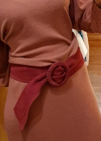 Cinturón antelina fresa