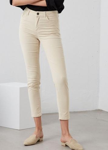 Pantalón Pana Off White