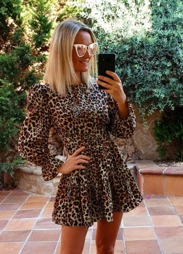 Vestido leopardo vuelo
