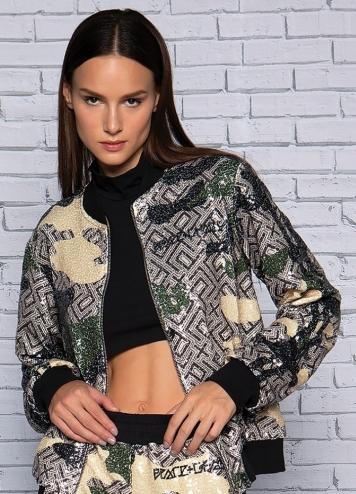 Camo Sequin Jacket