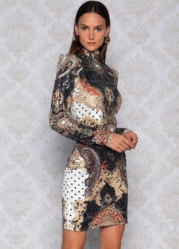 dotty baroque dress