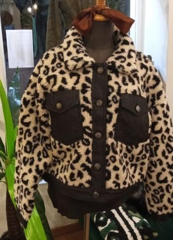 Chaqueta borrego leopardo