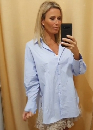 Camisa azul