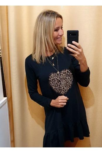 Vestido corazón leopardo