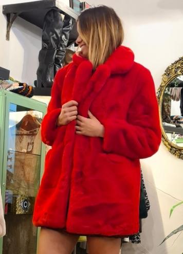 Abrigo Teddy Rojo