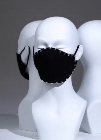 Mascarilla Negra piedra plata