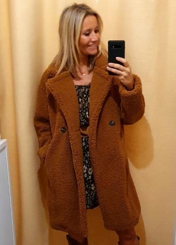 abrigo osito marrón