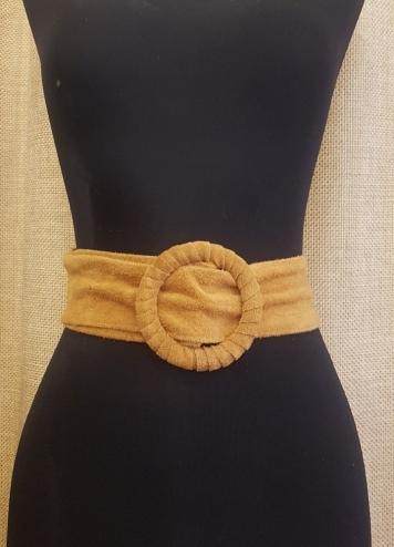 Cinturon antelina camel claro