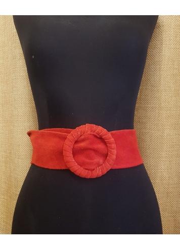 cinturon antelina rojo