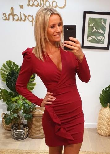 vestido magenta dress