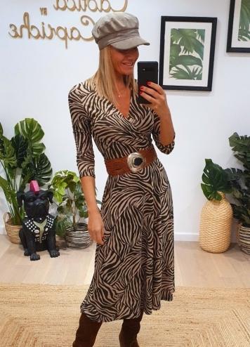 Vestido Velia Cebra marron