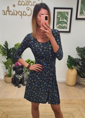 Vestido Chantilly Azul