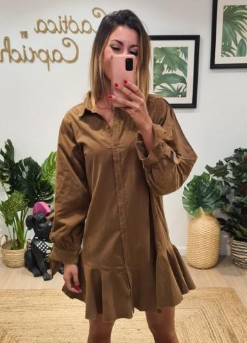 Vestido Carmeta camel