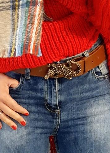 Cinturón Cocodrilo marrón