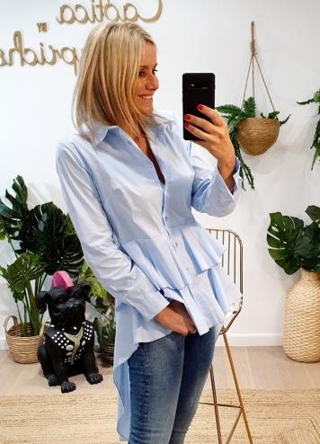 Camisa asimétrica azul