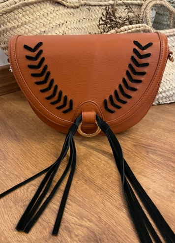bolso cross camel