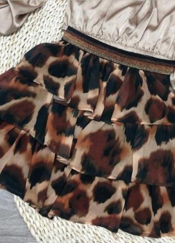 Falda leopardo cintura elástica