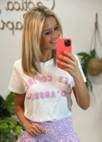 Camiseta Les Copines Lila