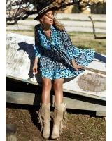 Vestido Saint Tropez Azul Caótica