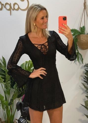 Vestido Sofia Negro Caótica