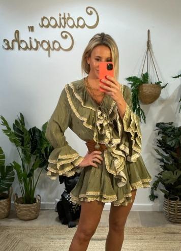 Vestido Bambula Gold Khaki