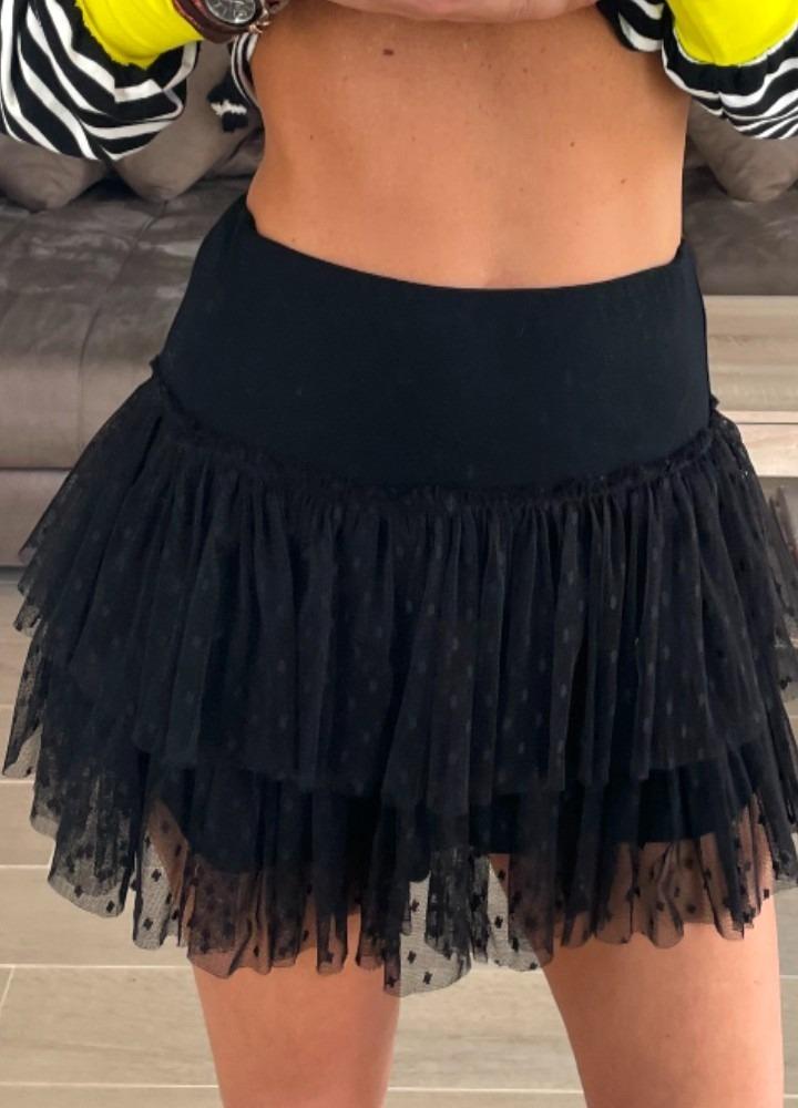 Falda Niza negro Caótica