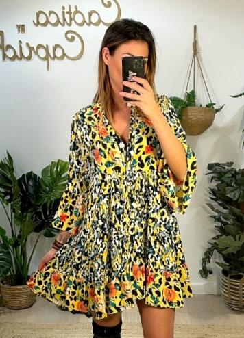 Vestido Saint Tropez Amarillo Caótica