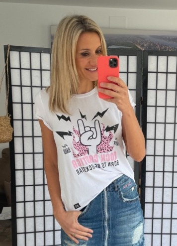 Camiseta Rock Blanca Caótica