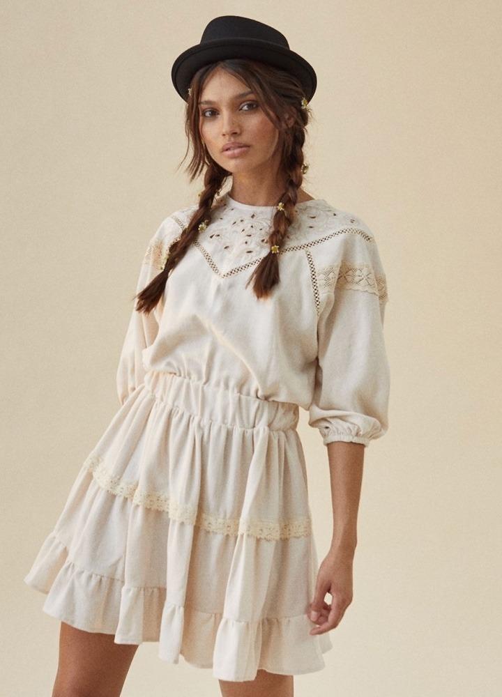 Vestido Berta Beige